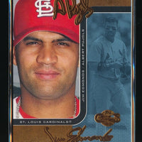 ALBERT PUJOLS JIM EDMONDS 2006 TOPPS CO-SIGNERS CHANGING FACES BLUE 081/125