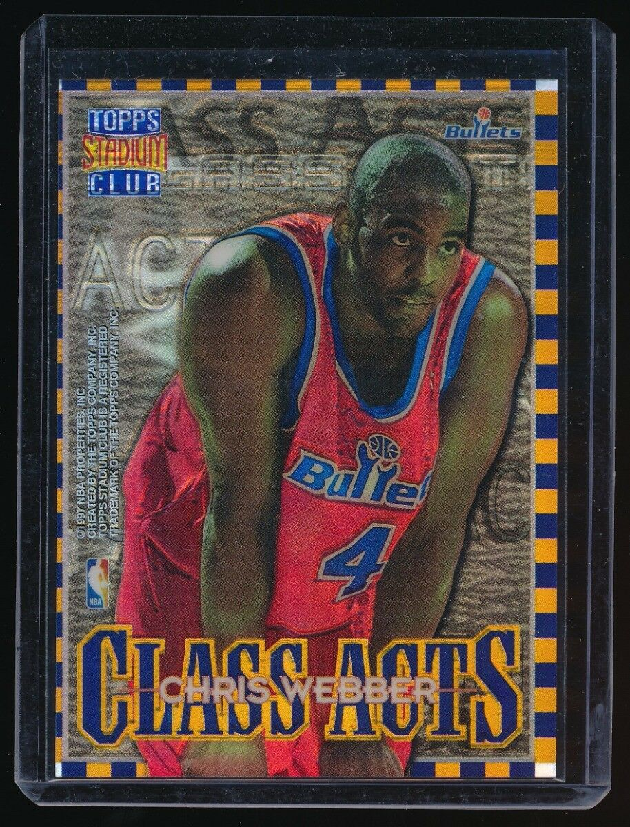 CHRIS WEBBER JUWAN HOWARD 1996-97 STADIUM CLUB CLASS ACTS REFRACTOR *BULLETS*