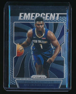 ZION WILLIAMSON 2019-20 PANINI PRIZM EMERGENT #7 RC *NEW ORLEANS PELICANS* (A)