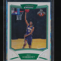 ROY HIBBERT 2008-09 BOWMAN CHROME RC REFRACTOR 144/499 INDIANA PACERS