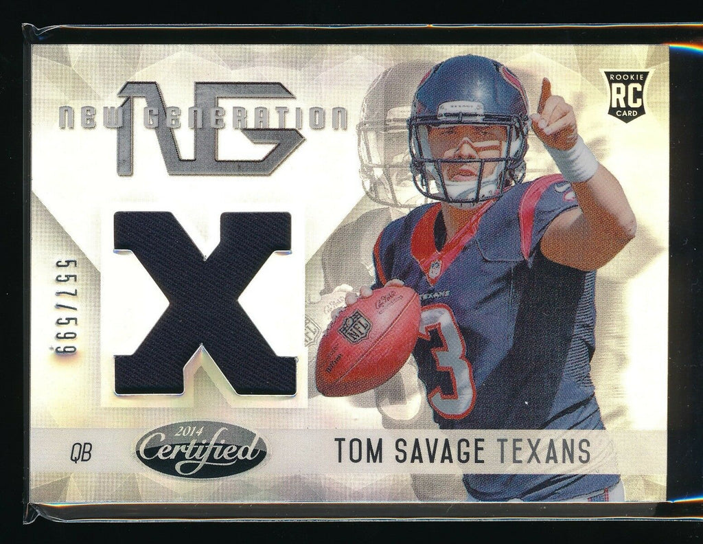 TOM SAVAGE 2014 CERTIFIED NEW GENERATION RC JERSEY 557/599 *HOUSTON TEXANS*