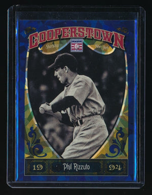 PHIL RIZZUTO 2013 PANINI COOPERSTOWN BLUE CRYSTAL 341/499 NEW YORK YANKEES