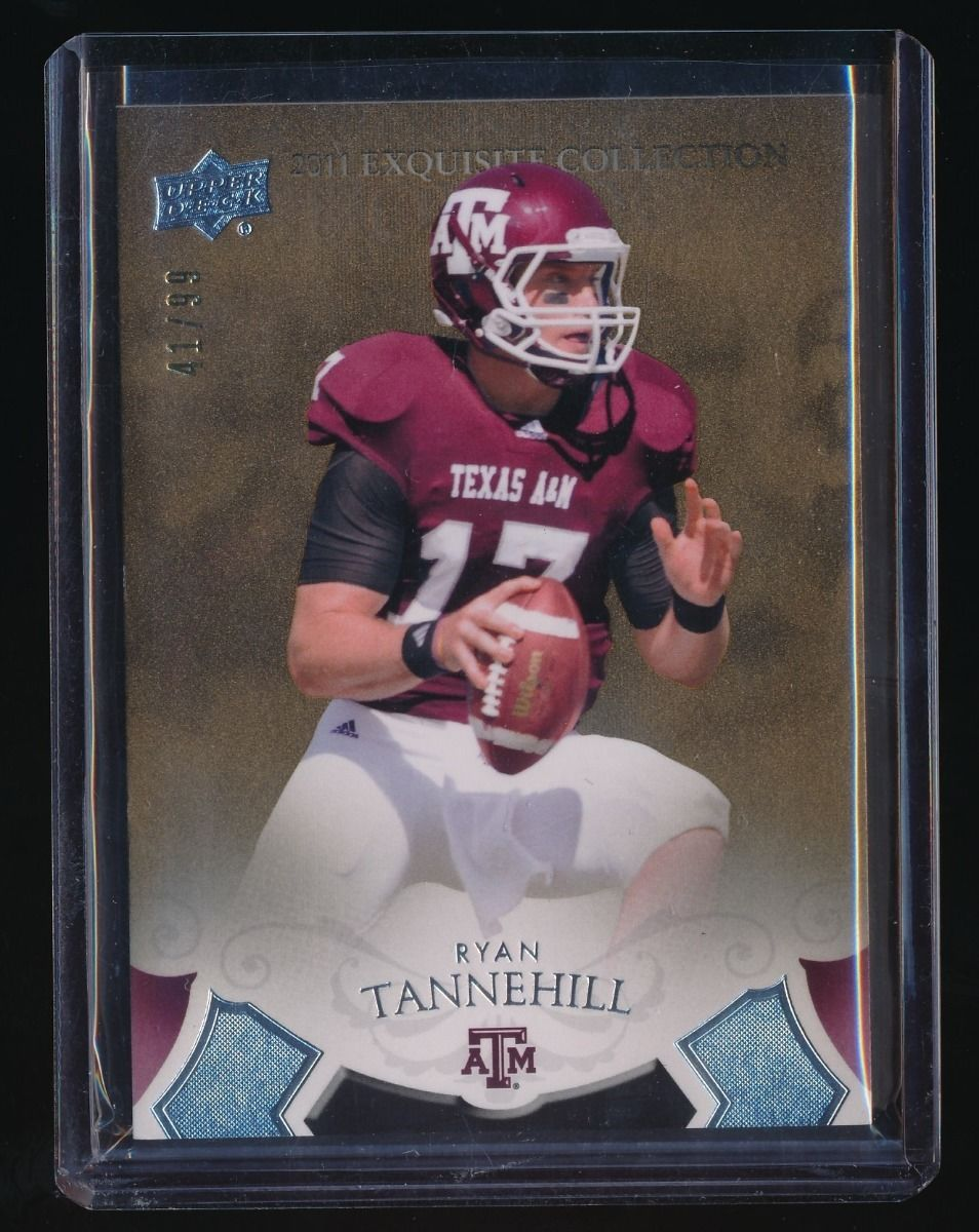 RYAN TANNEHILL 2011 EXQUISITE COLLECTION DRAFT PICKS BRONZE RC AUTO 41/99 MIAMI
