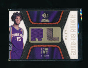 ROBIN LOPEZ 2008-09 SP ROOKIE THREADS ROOKIE THREADS RC JERSEY 066/125 *SUNS*