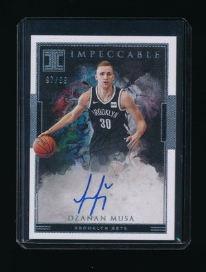 DZANAN MUSA 2018-19 PANINI IMPECCABLE ROOKIE SIGNATURE RC AUTO 97/99 *NETS*