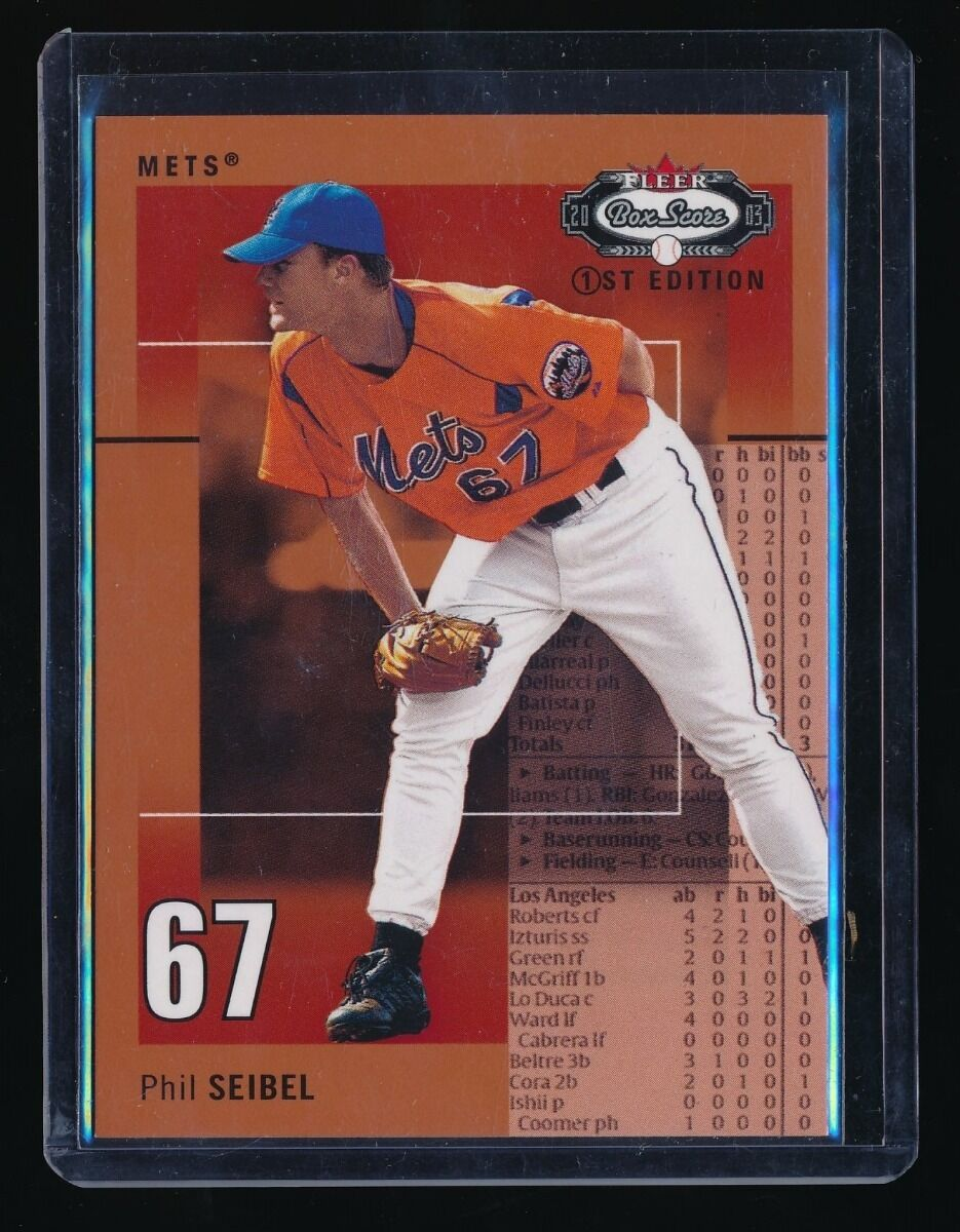 PHIL SEIBEL 2003 FLEER BOX SCORE FIRST EDITION #134 RS 042/100 *NEW YORK METS*