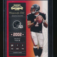 MICHAEL VICK 2002 PLAYOFF CONTENDERS CHAMPIONSHIP TICKET #/250 *ATLANTA FALCONS*