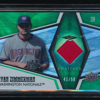 RYAN ZIMMERMAN 2008 UPPER DECK SPECTRUM SWATCHES GREEN JERSEY 41/50 *NATIONALS*