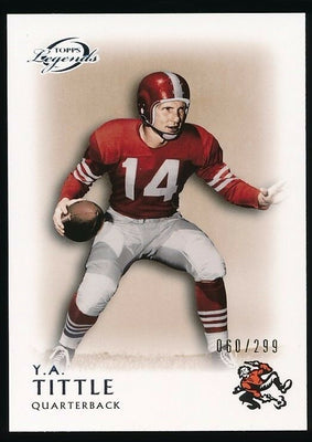 Y.A. TITTLE 2011 TOPPS LEGENDS 060/299 *NEW YORK GIANTS*