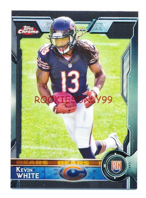 KEVIN WHITE 2015 TOPPS CHROME BLACK REFRACTOR PARALLEL RC ROOKIE #D 04/15 *BEARS
