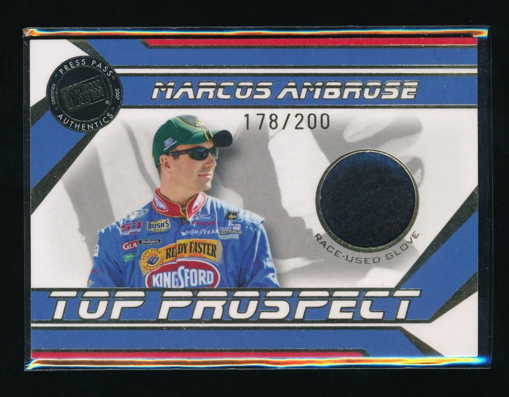 MARCOS AMBROSE 2007 PRESS PASS TOP PROSPECTS GLOVE #MAG 178/200