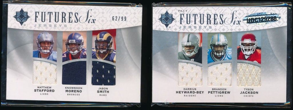 STAFFORD PETTIGREW HEYWARD-BEY JACKSON 2009 ULTIMATE COLLECTION RC JERSEY 62/99
