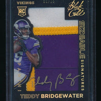 TEDDY BRIDGEWATER 2014 PANINI BLACK GOLD SIZEABLE PATCH RC AUTO #/25 *PANTHERS*