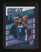 ZION WILLIAMSON 2019-20 DONRUSS GREAT X-PECTATIONS RC *NEW ORLEANS PELICANS (B)