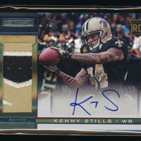 KENNY STILLS 2013 ROOKIES AND STARS ROOKIE JERSEY RC AUTO 09/32 *MIAMI DOLPHINS*