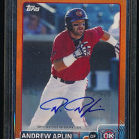 ANDREW APLIN 2015 TOPPS PRO DEBUT AUTOGRAPH ORANGE AUTO 13/25 *SEATTLE MARINERS*