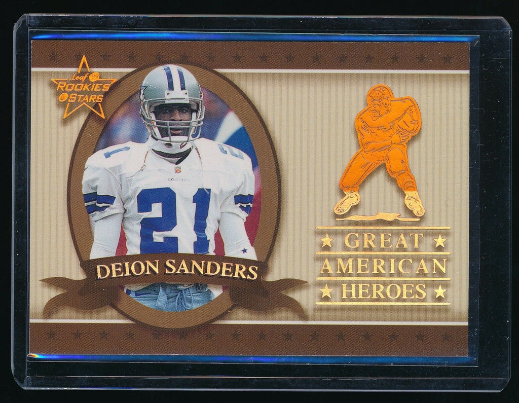 DEION SANDERS 1999 LEAF ROOKIES AND STARS GREAT AMERICAN HEROES 0490/2500