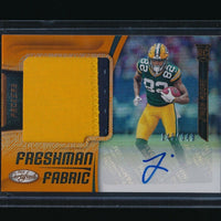 J'MON MOORE 2018 CERTIFIED MIRROR ORANGE PATCH RC AUTO 148/349 GREEN BAY PACKERS