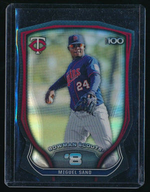 MIGUEL SANO 2015 BOWMAN CHROME BOWMAN SCOUTS TOP 100 DIE CUT RC 20/99 *TWINS*