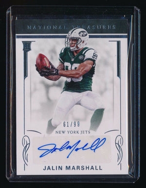 JALIN MARSHALL 2016 PANINI NATIONAL TREASURES RC AUTO 61/99 *NEW YORK JETS*