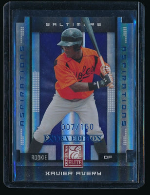 XAVIER AVERY 2008 DONRUSS ELITE EXTRA EDITION ASPIRATIONS #169 007/150 ORIOLES