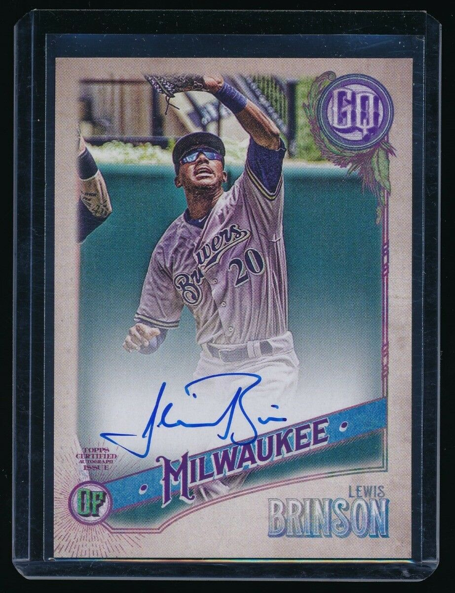 LEWIS BRINSON 2018 TOPPS GYPSY QUEEN AUTOGRAPH AUTO *MILWAUKEE BREWERS*