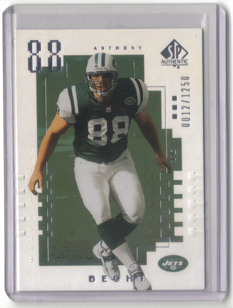 ANTHONY BECHT 2000 SP AUTHENTIC RC 0012/1250 NEW YORK JETS