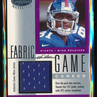 AMANI TOOMER 2001 LEAF CERTIFIED MATERIALS FABRIC OF THE GAME JERSEY 193/201