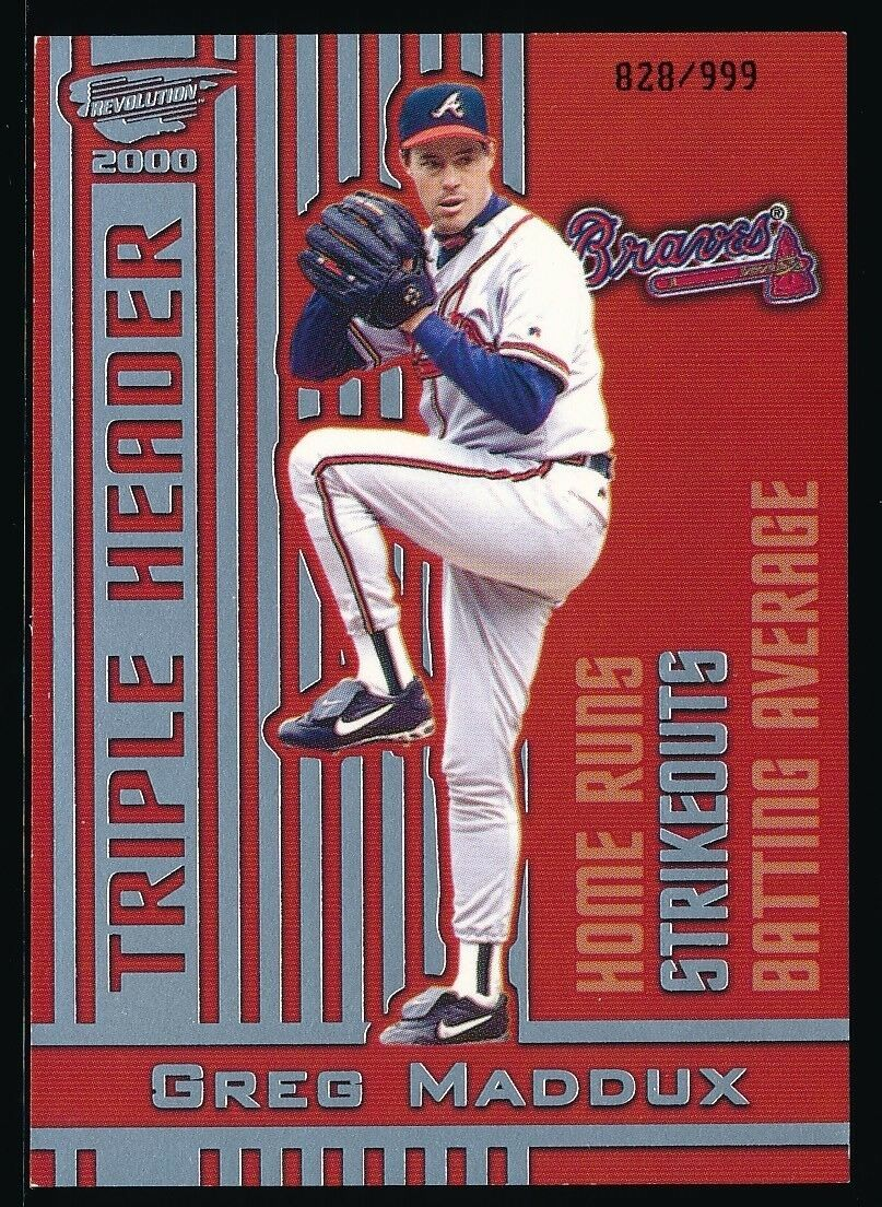 GREG MADDUX 2000 REVOLUTION TRIPLE HEADER SILVER 828/999 *ATLANTA BRAVES*