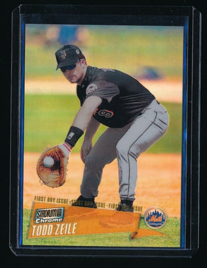 TODD ZEILE 2000 STADIUM CLUB CHROME FIRST DAY ISSUE REFRACTOR 4/25 NEW YORK METS