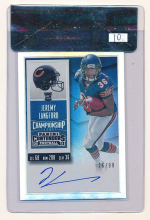 JEREMY LANGFORD 2015 PANINI CONTENDERS CHAMPIONSHIP TICKET #220A RC AUTO 16/99