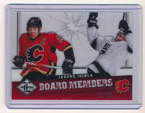 JAROME IGINLA 2012-13 LIMITED BOARD MEMBERS DIE CUT #25 10/25 CALGARY FLAMES