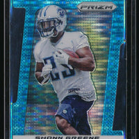 SHONN GREENE 2013 PANINI PRIZM PRIZMS LIGHT BLUE DIE CUT #49 15/15 *TITANS*