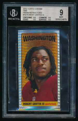 ROBERT GRIFFIN III 2012 TOPPS CHROME 1965 #10 RC BGS 9 *BALTIMORE RAVENS*