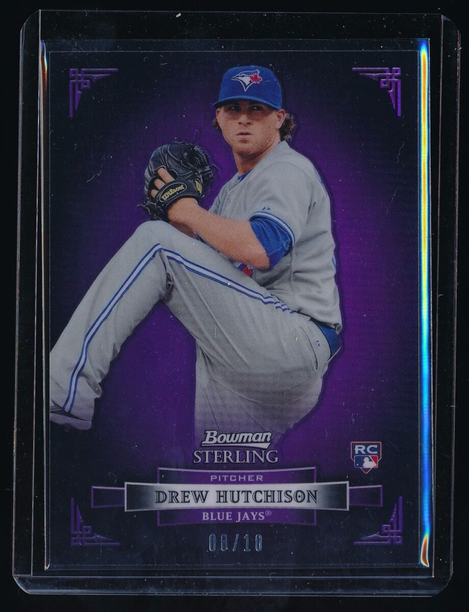 DREW HUTCHISON 2012 BOWMAN STERLING PURPLE REFRACTOR 08/10 *TORONTO BLUE JAYS*