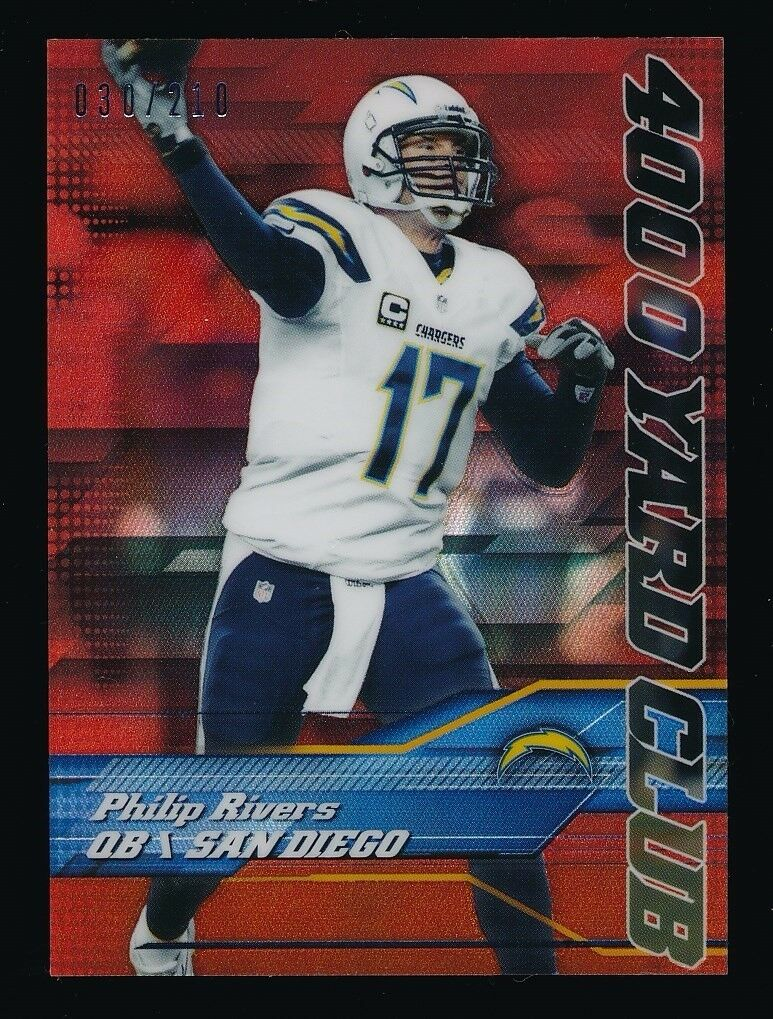 PHILIP RIVERS 2014 TOPPS CHROME MINI 4000 YD CLUB RED REF 030/210 *CHARGERS*