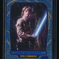 LUKE SKYWALKER 2012 STAR WARS GALACTIC FILES BLUE FOIL #123 004/350