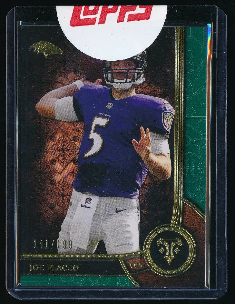 JOE FLACCO 2015 TOPPS TRIPLE THREADS EMERALD #51 141/199 *BALTIMORE RAVENS*