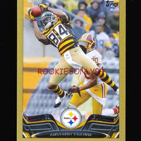 ANTONIO BROWN 2013 TOPPS MINI GOLD PARALLEL EDITION #D 17/58 PITTSBURGH STEELERS
