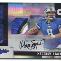 MATTHEW STAFFORD 2010 ABSOLUTE MEMORABILIA MARKS OF FAME AUTO SPECTRUM PATCH 4/5