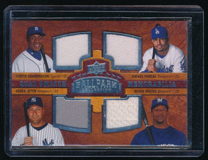 GRANDERSON FURCAL JETER WEEKS 2008 UPPER DECK BALLPARK COLLECTION JERSEY YANKEES