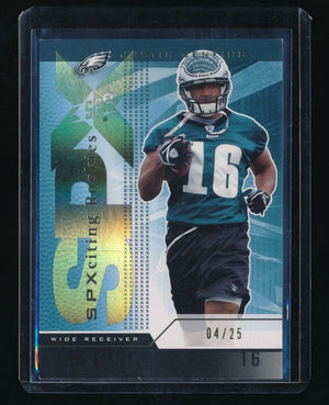 JUSTIN JENKINS 2004 SPX SPECTRUM GOLD RC 04/25 *PHILADELPHIA EAGLES*