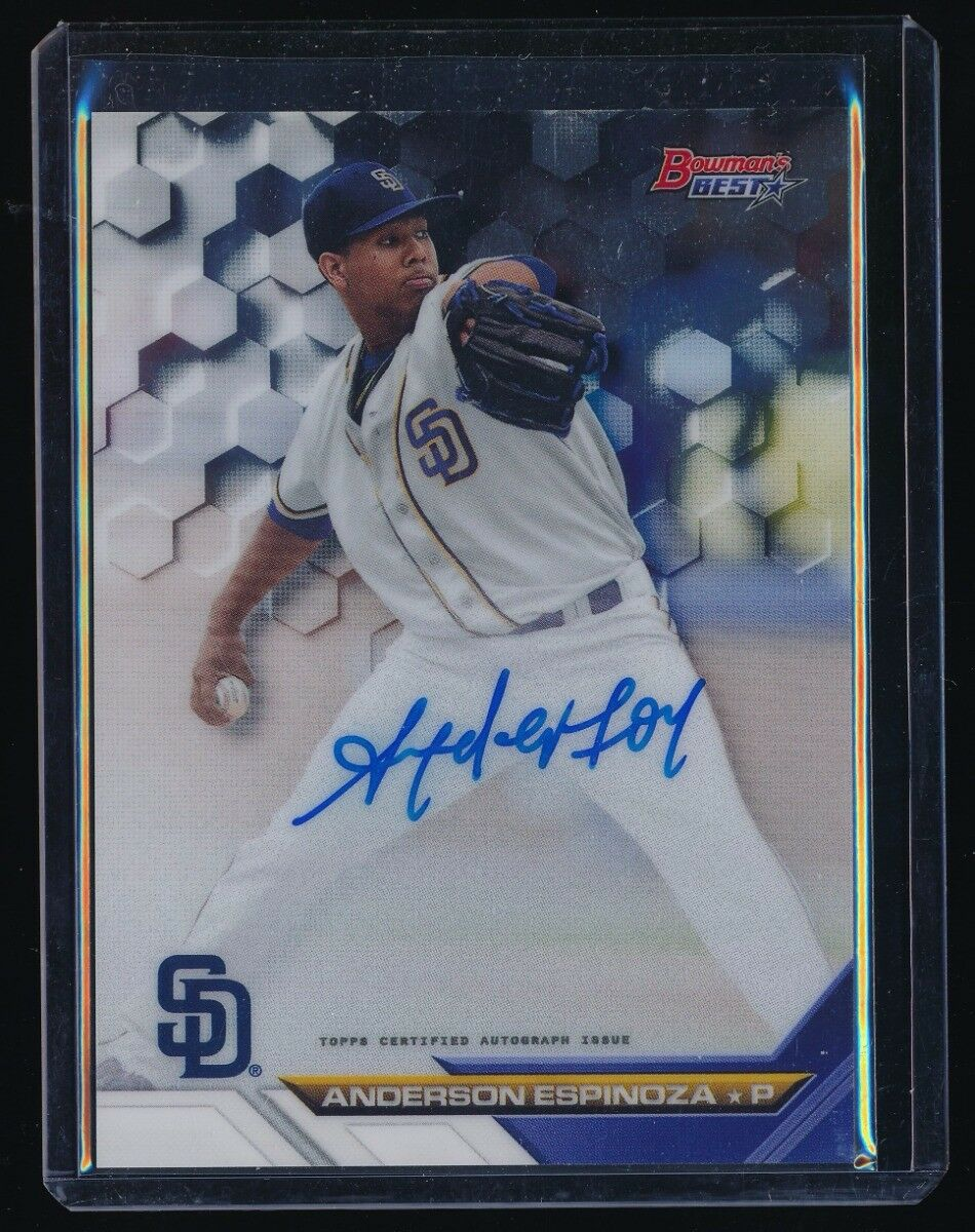 ANDERSON ESPINOZA 2016 BOWMAN'S BEST BEST OF '16 AUTOGRAPH RC AUTO *SAN DIEGO*