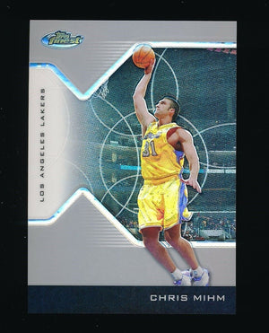 CHRIS MIHM 2004-05 TOPPS FINEST REFRACTORS 078/249 *LOS ANGELES LAKERS*