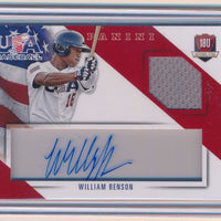 WILLIAM BENSON 2015 USA BASEBALL 18U NATIONAL TEAM JERSEY AUTO 83/99