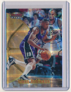 GLENN ROBINSON 1997-98 BOWMAN'S BEST ATOMIC REFRACTOR #8 *MILWAUKEE BUCKS*