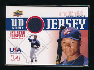 MICHAEL CHOICE 2009 UPPER DECK SIGNATURE STARS USA STAR PROSPECTS JERSEY ORIOLES