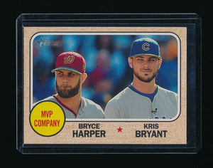 KRIS BRYANT BRYCE HARPER 2017 TOPPS HERITAGE #263 *CHICAGO CUBS PHILLIES*
