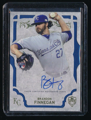 BRANDON FINNEGAN 2015 TOPPS SUPREME AUTOGRAPH RC AUTO *KANSAS CITY ROYALS*