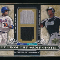 JOSE REYES HANLEY RAMIREZ 2008 UD A PIECE OF HISTORY SAME CLOTH DUAL JERSEY #/99